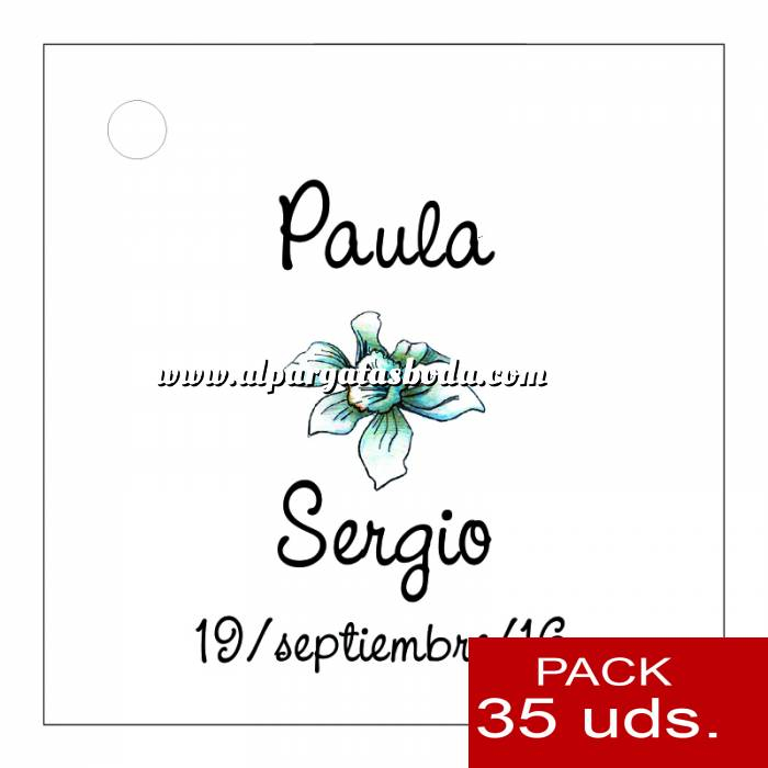 Imagen Etiquetas personalizadas Etiqueta Modelo A15 (Paquete de 35 etiquetas 4x4)
