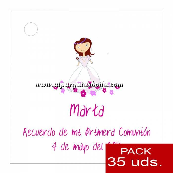 Imagen Etiquetas personalizadas Etiqueta Modelo A22 (Paquete de 35 etiquetas 4x4)