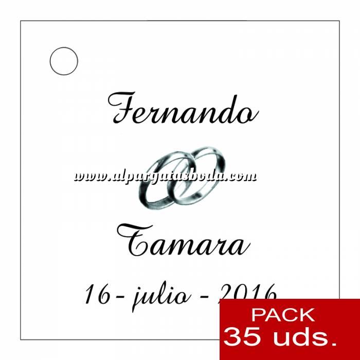 Imagen Etiquetas personalizadas Etiqueta Modelo B08 (Paquete de 35 etiquetas 4x4)