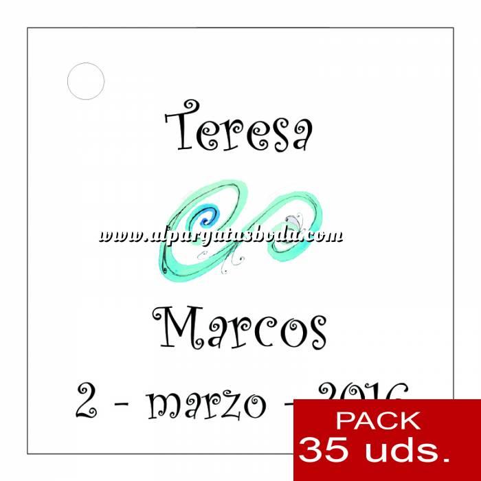 Imagen Etiquetas personalizadas Etiqueta Modelo D06 (Paquete de 35 etiquetas 4x4)