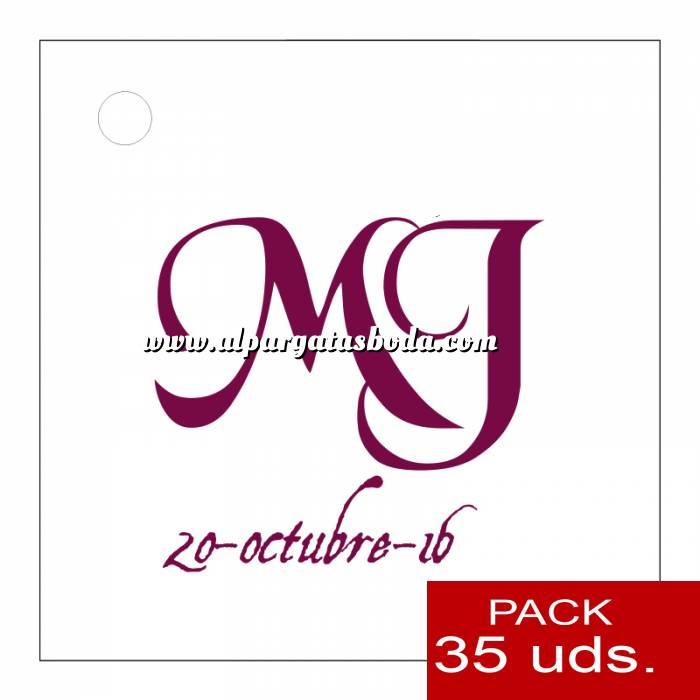 Imagen Etiquetas personalizadas Etiqueta Modelo E10 (Paquete de 35 etiquetas 4x4)