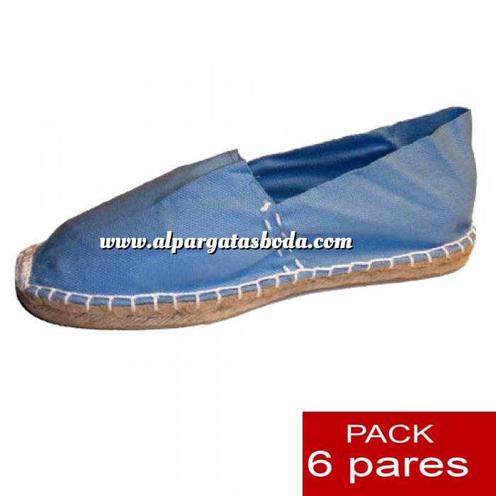 Imagen Talla 39 Alpargatas cerradas Talla 39 CELESTE - 6 pares