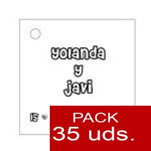 Imagen Etiquetas personalizadas Etiqueta Modelo A03 (Paquete de 35 etiquetas 4x4)