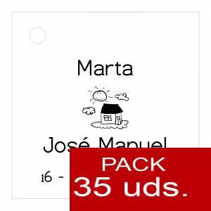 Etiquetas personalizadas - Etiqueta Modelo A06 (Paquete de 35 etiquetas 4x4)