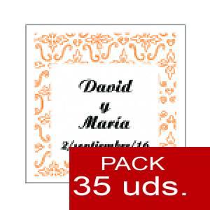 Imagen Etiquetas personalizadas Etiqueta Modelo A12 (Paquete de 35 etiquetas 4x4)