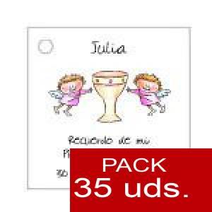 Imagen Etiquetas personalizadas Etiqueta Modelo A18 (Paquete de 35 etiquetas 4x4)