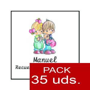 Imagen Etiquetas personalizadas Etiqueta Modelo A27 (Paquete de 35 etiquetas 4x4)