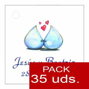 Etiquetas personalizadas - Etiqueta Modelo B07 (Paquete de 35 etiquetas 4x4)