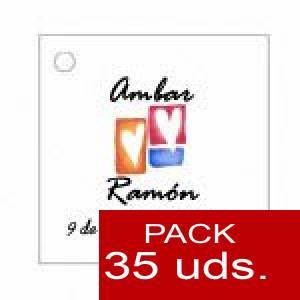 Imagen Etiquetas personalizadas Etiqueta Modelo B10 (Paquete de 35 etiquetas 4x4)