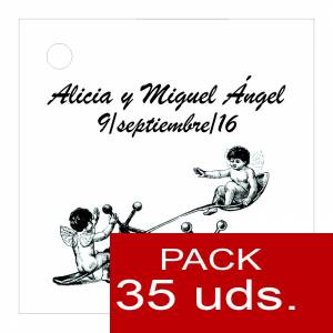 Etiquetas personalizadas - Etiqueta Modelo B15 (Paquete de 35 etiquetas 4x4)