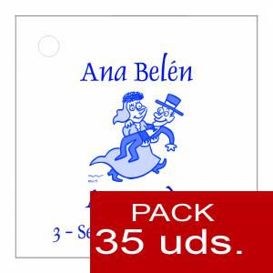 Etiquetas personalizadas - Etiqueta Modelo C10 (Paquete de 35 etiquetas 4x4)