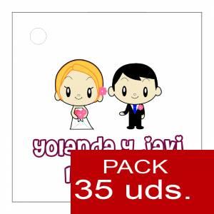 Etiquetas personalizadas - Etiqueta Modelo C11 (Paquete de 35 etiquetas 4x4)