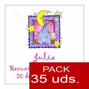 Etiquetas personalizadas - Etiqueta Modelo D27 (Paquete de 35 etiquetas 4x4)