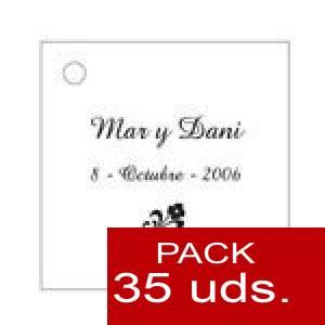 Imagen Etiquetas personalizadas Etiqueta Modelo E01 (Paquete de 35 etiquetas 4x4)