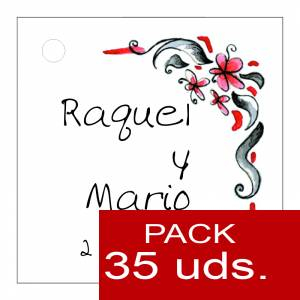 Etiquetas personalizadas - Etiqueta Modelo F08 (Paquete de 35 etiquetas 4x4)