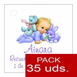 Etiquetas personalizadas - Etiqueta Modelo F21 (Paquete de 35 etiquetas 4x4)