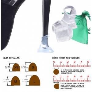Protectores de Tacón - Protector tacón CUADRADO S (0.7 cms - 0.9 cms) - Cubretacon (1 par)