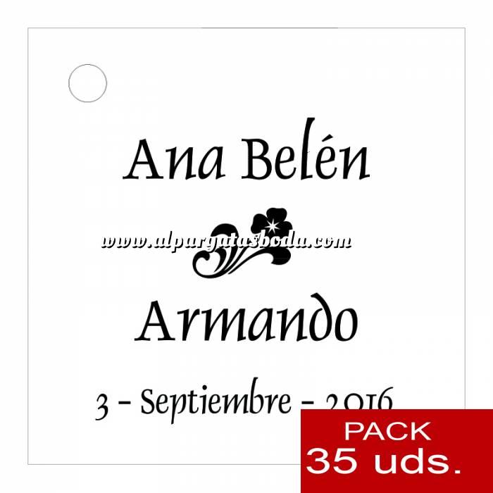 Imagen Etiquetas impresas Etiqueta Modelo B03 (Paquete de 35 etiquetas 4x4)