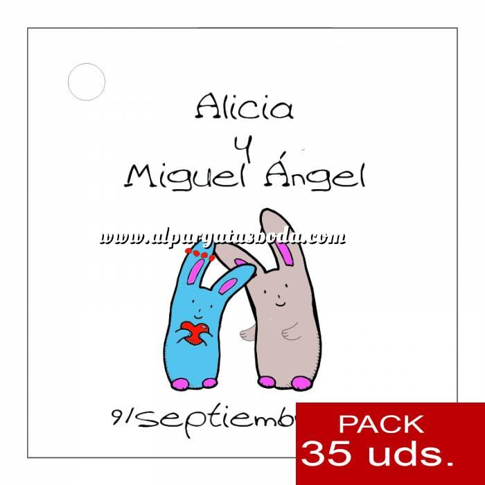 Imagen Etiquetas impresas Etiqueta Modelo B13 (Paquete de 35 etiquetas 4x4)