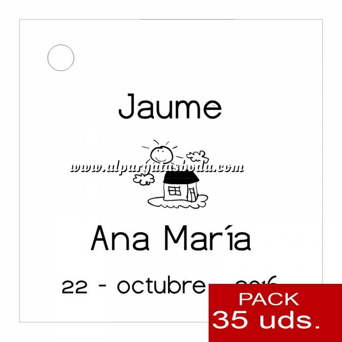 Imagen Etiquetas impresas Etiqueta Modelo D03 (Paquete de 35 etiquetas 4x4)