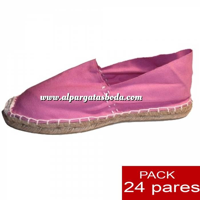 Imagen Para Hombres Alpargatas cerradas HOMBRE color ROSA Tallaje 40-46 -caja 24 pares (TIENDA) (Últimas Unidades)