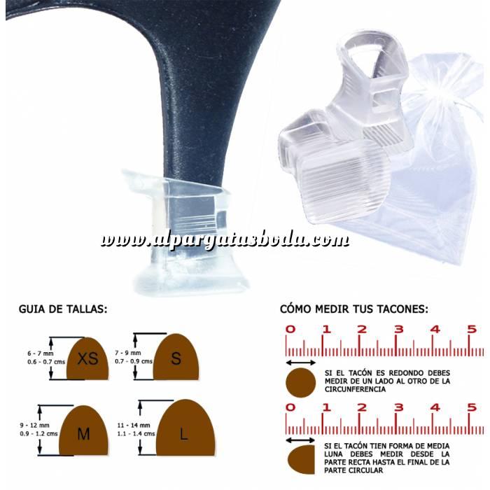 Imagen Protectores de Tacón Protector tacón CUADRADO M (0.9 cms - 1.2 cms) - Cubretacon (1 par)