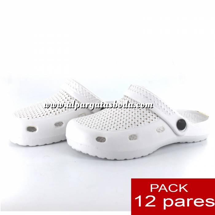 Imagen Zuecos tipo Crocs Zuecos tipo Crocs HOMBRE , Blanco , CAJA DE 12 UDS (