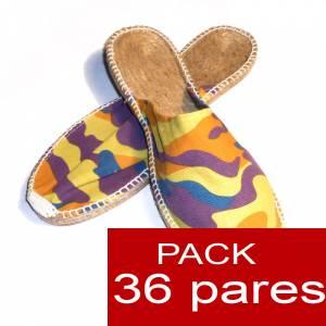 Abiertas mujer - Alpargatas Abiertas MUJER camuflaje amarillo caja 36 pares (�ltimas unidades)