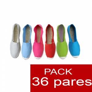 Cerradas mujer - Alpargatas cerradas Boda Surtidas en colores y tallas - caja de 36 pares (Últimas Unidades)