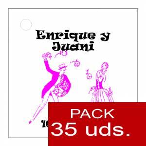 Imagen Etiquetas impresas Etiqueta Modelo E11 (Paquete de 35 etiquetas 4x4)