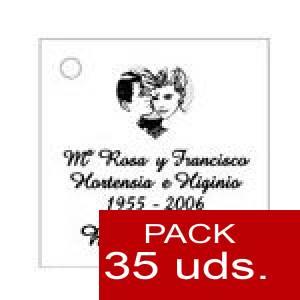 Imagen Etiquetas impresas Etiqueta Modelo F01 (Paquete de 35 etiquetas 4x4)