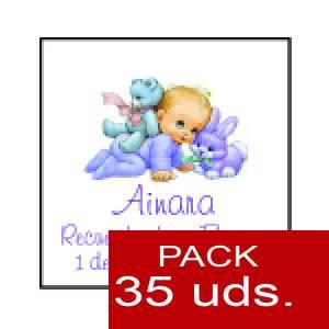 Imagen Etiquetas impresas Etiqueta Modelo F21 (Paquete de 35 etiquetas 4x4)