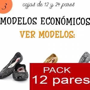 Imagen Modelos Economicos Manoletinas Melissa M.273 BLACK - Lote de 12 pares (Tallaje 2) - TALLAJE 36 a 39 (Últimas Unidades)