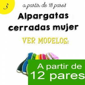 Imagen Mujer Cerradas Alpargatas cerradas MUJER color BEIGE / CRUDO - A partir de 12 pares (Últimas Unidades)