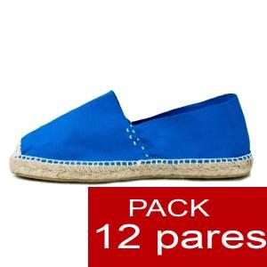 Mujer Cerradas - Alpargatas cerradas MUJER color azul Royal - caja 12 pares