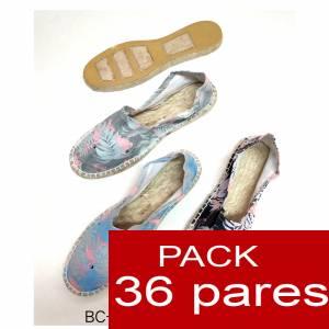 Imagen Mujer Estampadas Alpargata estampada FLAMENCOS ( BC-009 ) Caja 36 pares (Últimas Unidades)
