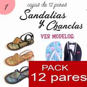Imagen Sandalias y Chanclas Chanclas MUJERES - Caja 12 pares - Flamencos (Últimas Unidades)